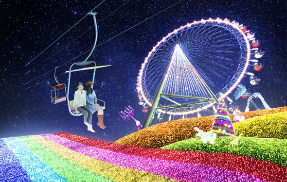 【イルミネーション】大人も楽しめる富士山麓のショーアップスポット