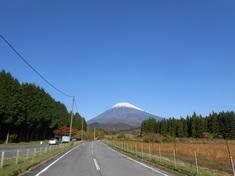 富士山に積雪