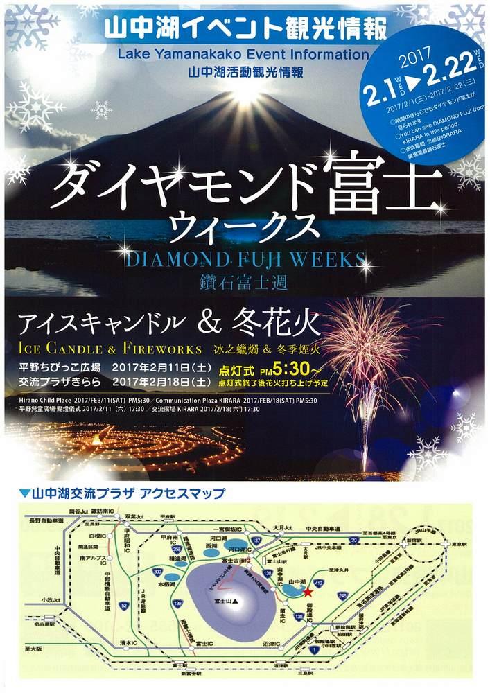 山中湖 ダイヤモンド富士 ウィークス