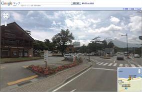 GoogleMapストリートビューで山中湖へ