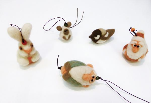 草木染め羊毛ストラップ作り(初級編)